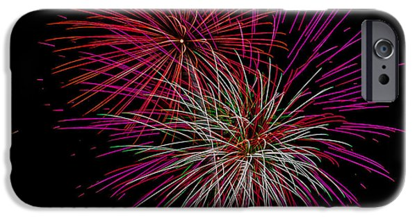 4th July iPhone Cases - Fireworks 9 iPhone Case by Paul Freidlund
