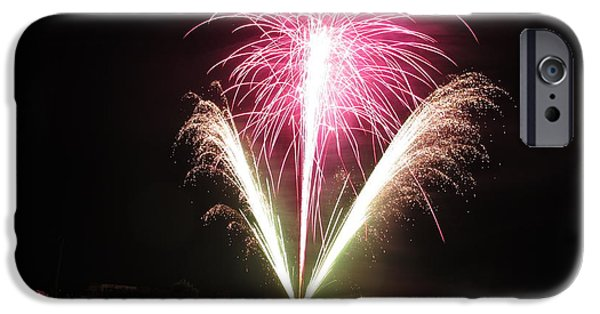 American Independance iPhone Cases - Fireworks at Cooks iPhone Case by Donnie Freeman