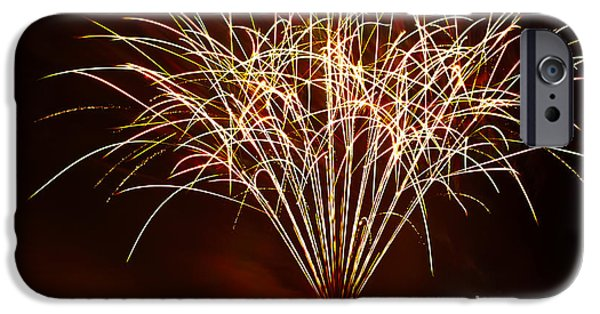 4th July Photographs iPhone Cases - Fireworks at Tempe Town Lake  iPhone Case by Saija  Lehtonen