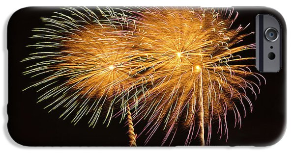 Fireworks Pyrography iPhone Cases - Fireworks iPhone Case by Cornel Iacobuta