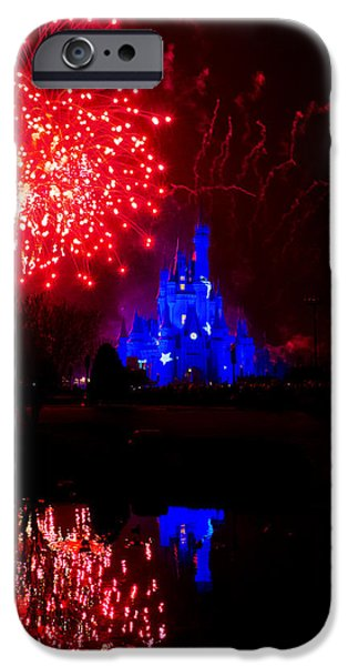 Fireworks iPhone Cases - Fireworks Disney Style iPhone Case by Greg Fortier