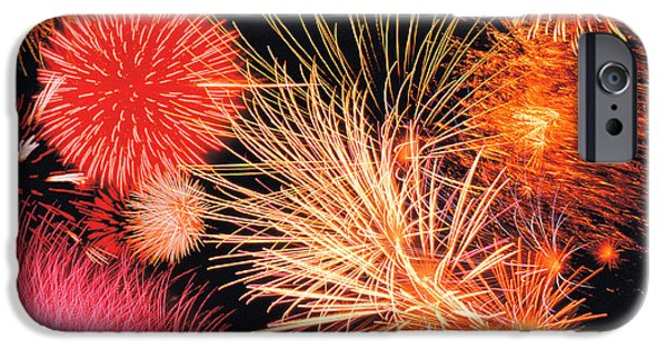 Fireworks iPhone Cases - Fireworks Display iPhone Case by Panoramic Images