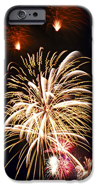 4th July Photographs iPhone Cases - Fireworks iPhone Case by Elena Elisseeva