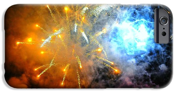 Fireworks iPhone Cases - Fireworks Finale iPhone Case by Diana Angstadt