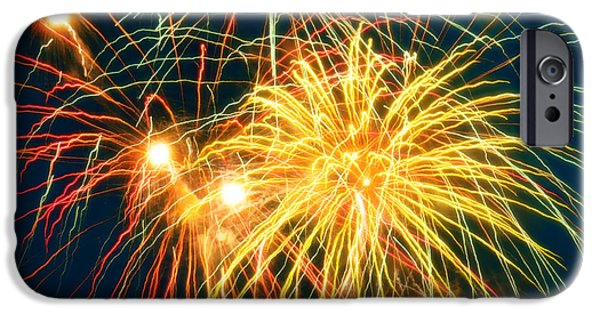 July 4th iPhone Cases - Fireworks Finale iPhone Case by Doug Kreuger