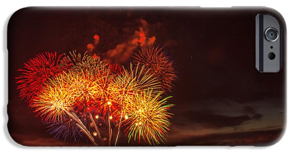 4th July Photographs iPhone Cases - Fireworks Finale iPhone Case by Robert Bales