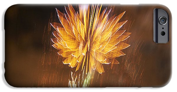 Independence Day Pyrography iPhone Cases - Fireworks iPhone Case by Jacob Sela