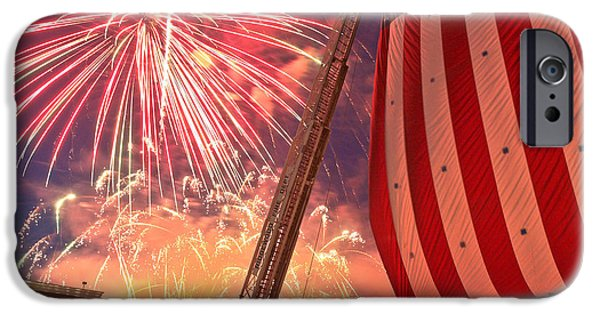 Ridgewood iPhone Cases - Fireworks iPhone Case by Jim DeLillo