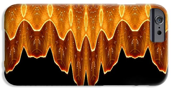 4th July Digital iPhone Cases - Fireworks Melting Abstract iPhone Case by Rose Santuci-Sofranko