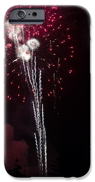 Independance Day iPhone Cases - Fireworks iPhone Case by Michael Chatt