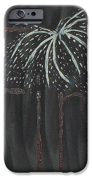 4th July Paintings iPhone Cases - Fireworks iPhone Case by Nannette Kelly