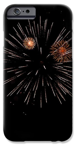 July 4th iPhone Cases - Fireworks night iPhone Case by Modern Art Prints