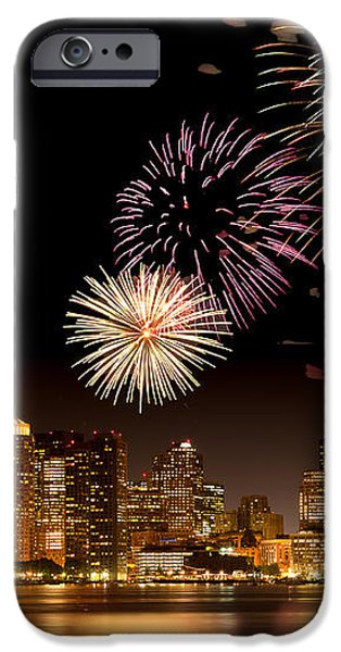 Fireworks over Boston Harbor iPhone Case by Susan Cole Kelly