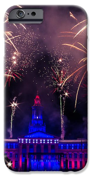 Fireworks Over Denver City and County Building iPhone Case by Teri Virbickis