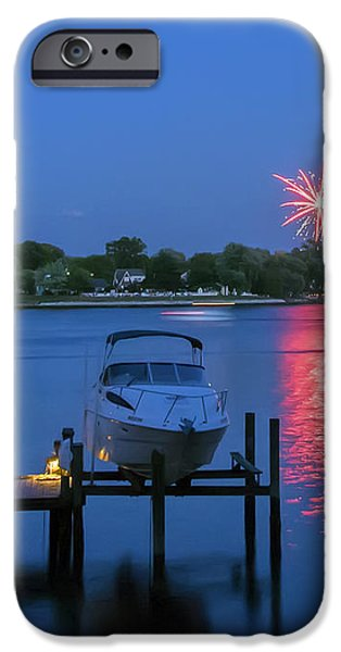 Fireworks Over Stony Creek iPhone Case by Brian Wallace
