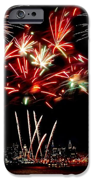 Fireworks over the Delaware iPhone Case by Nick Zelinsky