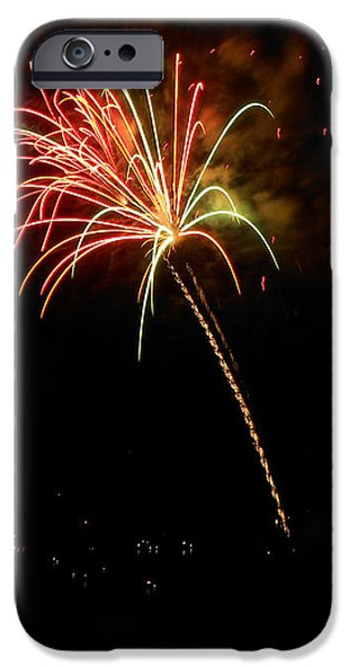 Fireworks Over the Lake 3 iPhone Case by Dawn's Good Nature