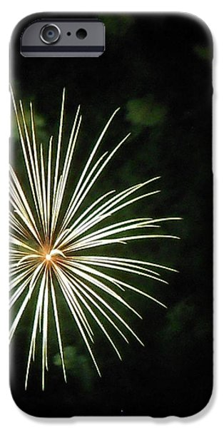 Fireworks Over the Lake 32 iPhone Case by Dawn's Good Nature
