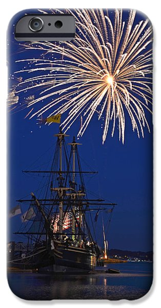 Oxford. Oxford Ma. Massachusetts iPhone Cases - Fireworks over the Salem Friendship iPhone Case by Toby McGuire