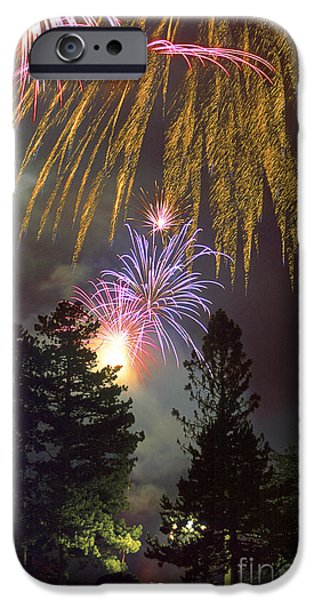 Fourth Of July iPhone Cases - Fireworks iPhone Case by Phil Degginger