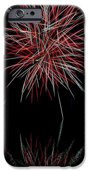 Fireworks Rockets Red Glare iPhone Case by Christina Rollo
