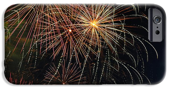 Pyrotechnics iPhone Cases - Fireworks - Royal Australian Navy Centenary 2 iPhone Case by Kaye Menner