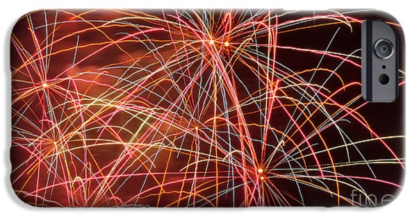 Pyrotechnics iPhone Cases - Fireworks - Royal Australian Navy Centenary 3 iPhone Case by Kaye Menner