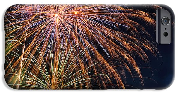 Pyrotechnics iPhone Cases - Fireworks - Royal Australian Navy Centenary iPhone Case by Kaye Menner