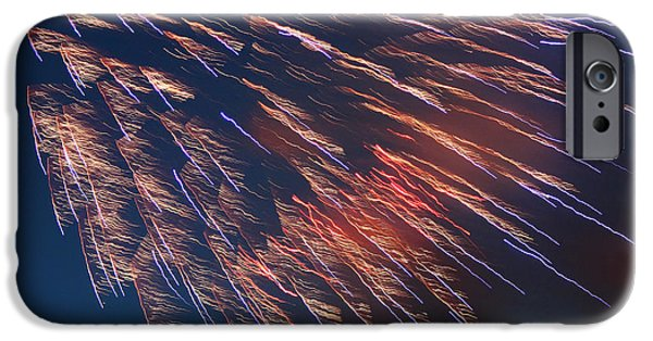 4th July Photographs iPhone Cases - Fireworks Series I iPhone Case by Suzanne Gaff