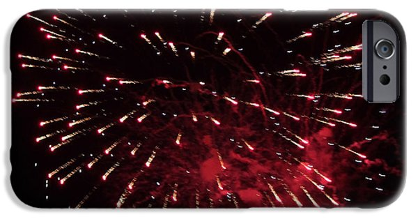 July 4th iPhone Cases - Fireworks Series IX iPhone Case by Suzanne Gaff