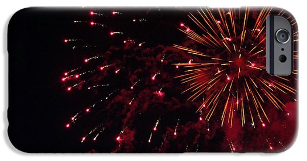 Fourth Of July iPhone Cases - Fireworks Series V iPhone Case by Suzanne Gaff