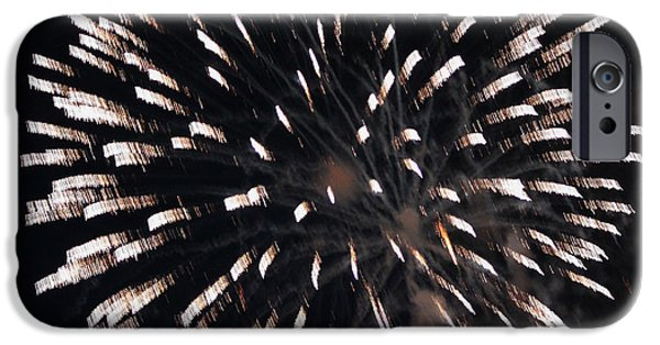 July 4th iPhone Cases - Fireworks Series X iPhone Case by Suzanne Gaff