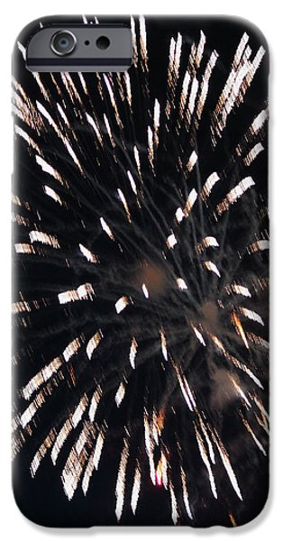 Fireworks Series X iPhone Case by Suzanne Gaff