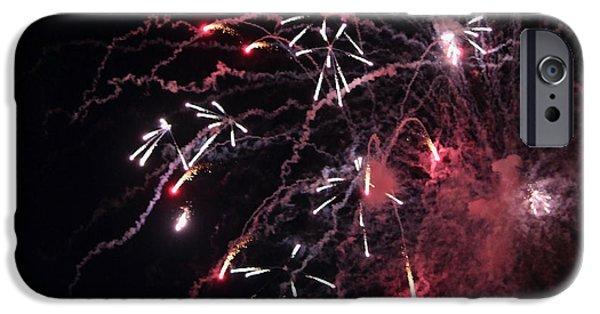 4th July Photographs iPhone Cases - Fireworks Series XI iPhone Case by Suzanne Gaff
