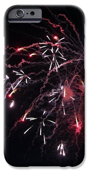 Fireworks Series XI iPhone Case by Suzanne Gaff