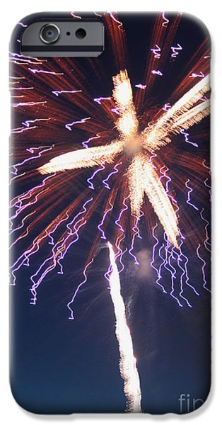 4th July Photographs iPhone Cases - Fireworks Series XII iPhone Case by Suzanne Gaff
