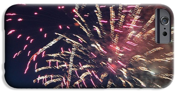 4th July Photographs iPhone Cases - Fireworks Series XIII iPhone Case by Suzanne Gaff