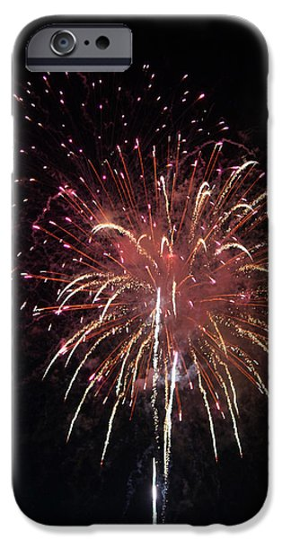 4th July iPhone Cases - Fireworks Series XIV iPhone Case by Suzanne Gaff