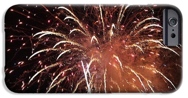 July 4th iPhone Cases - Fireworks Series XV iPhone Case by Suzanne Gaff