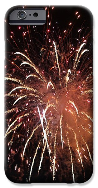 Fireworks Series XV iPhone Case by Suzanne Gaff