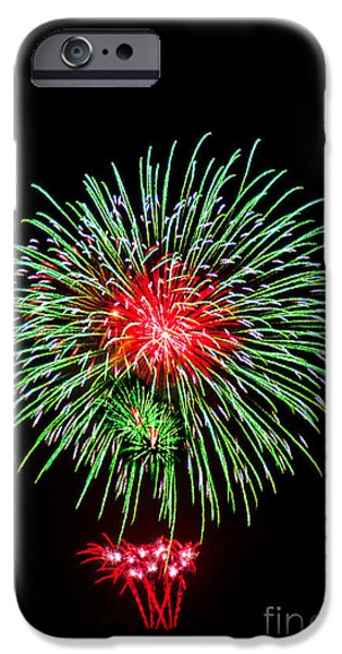 4th July Photographs iPhone Cases - Fireworks iPhone Case by Spencer Grant