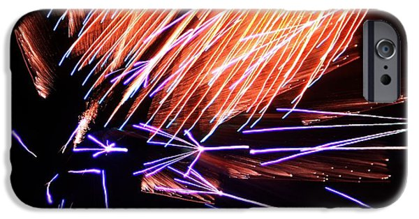 Fourth Of July iPhone Cases - Fireworks Up Close iPhone Case by Dan Sproul