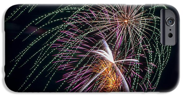 4th July iPhone Cases - Fireworks Veil iPhone Case by Bill Pevlor