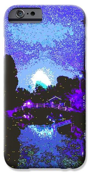 Fireworks Venice California iPhone Case by Jerome Stumphauzer