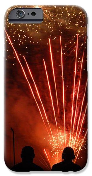 Fireworks iPhone Case by Vonnie Murfin