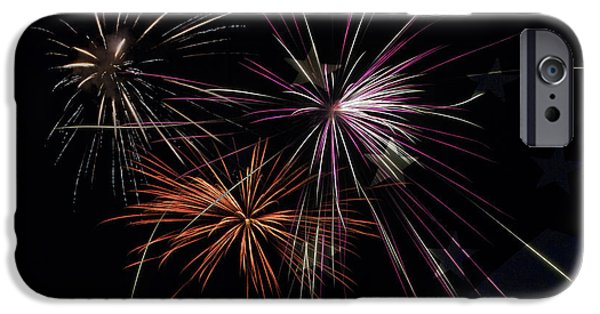 4th July iPhone Cases - Fireworks With Pride iPhone Case by Christina Rollo