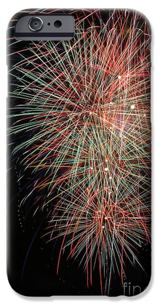 4th July Photographs iPhone Cases - Fireworks6500 iPhone Case by Gary Gingrich Galleries