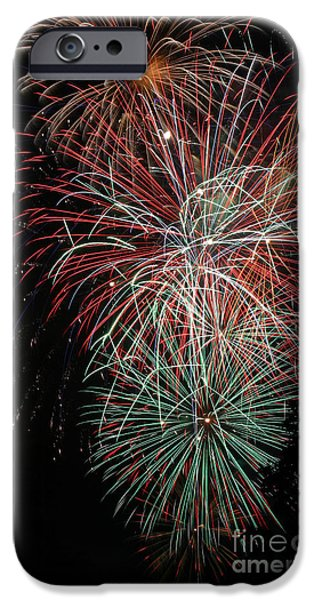 Fourth Of July iPhone Cases - Fireworks6506 iPhone Case by Gary Gingrich Galleries