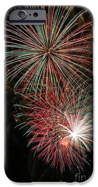 Fourth Of July iPhone Cases - Fireworks6509 iPhone Case by Gary Gingrich Galleries