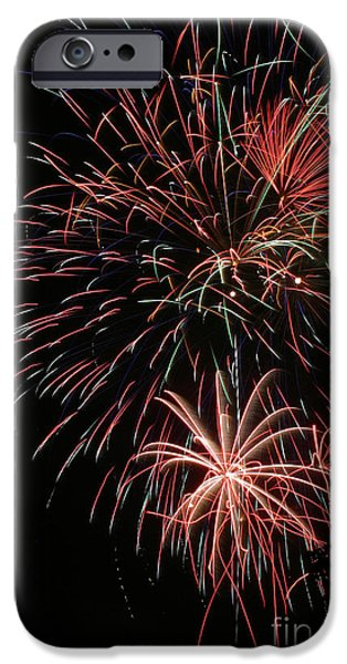 Fourth Of July iPhone Cases - Fireworks6525 iPhone Case by Gary Gingrich Galleries